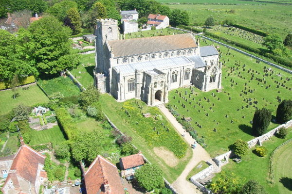 Aerial-view-of-Cley-Church