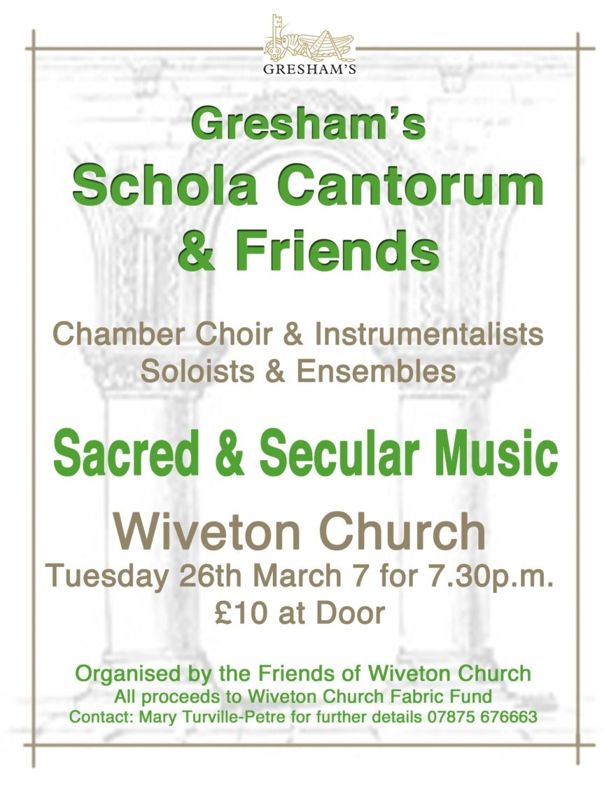 Schola Cantorum and Friends March 2019