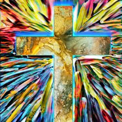 stained glass easter cross-4892852_1920